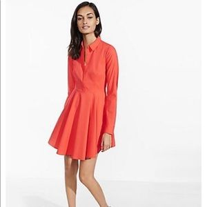 NWT Sour Cherry Fit and Flare Shirt Dress